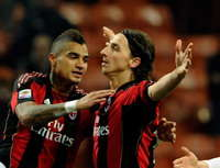Kevin Prince Boateng, Zlatan Ibrahimovic - Milan-Brescia - Serie A (Getty Images)