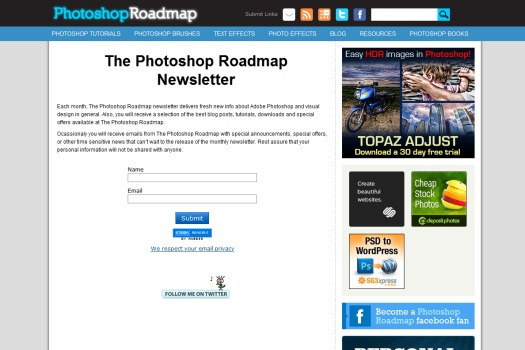 Photoshop Road Map